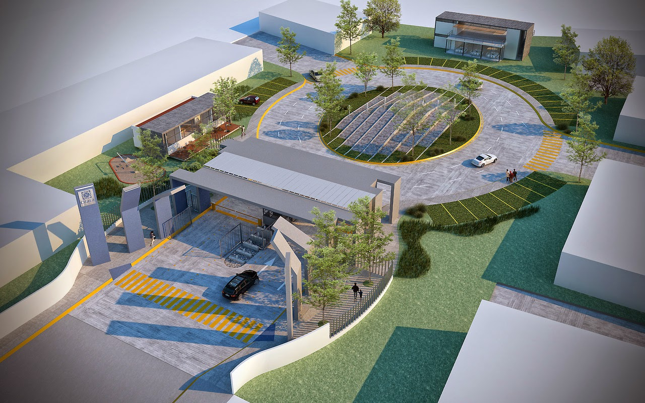 Echauri Morales Arquitectos Render Accesos Ciudad Jard N