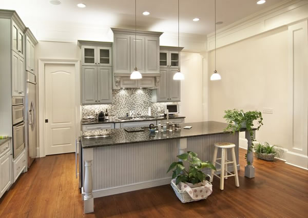 White Kitchen Cabinets And Gray Walls gray kitchen cabinets