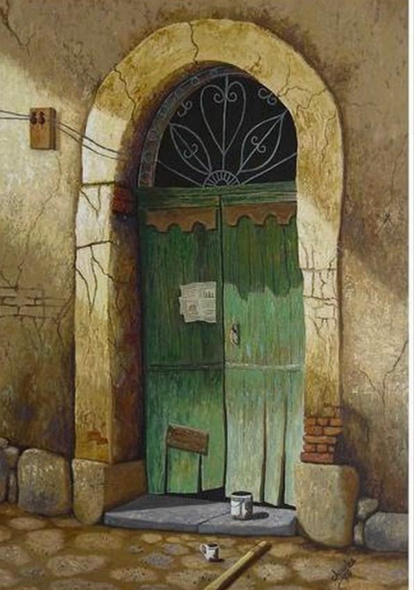 Pinturas cuadros lienzos el arte en pinturas de puertas for Pintura de tiza para puertas