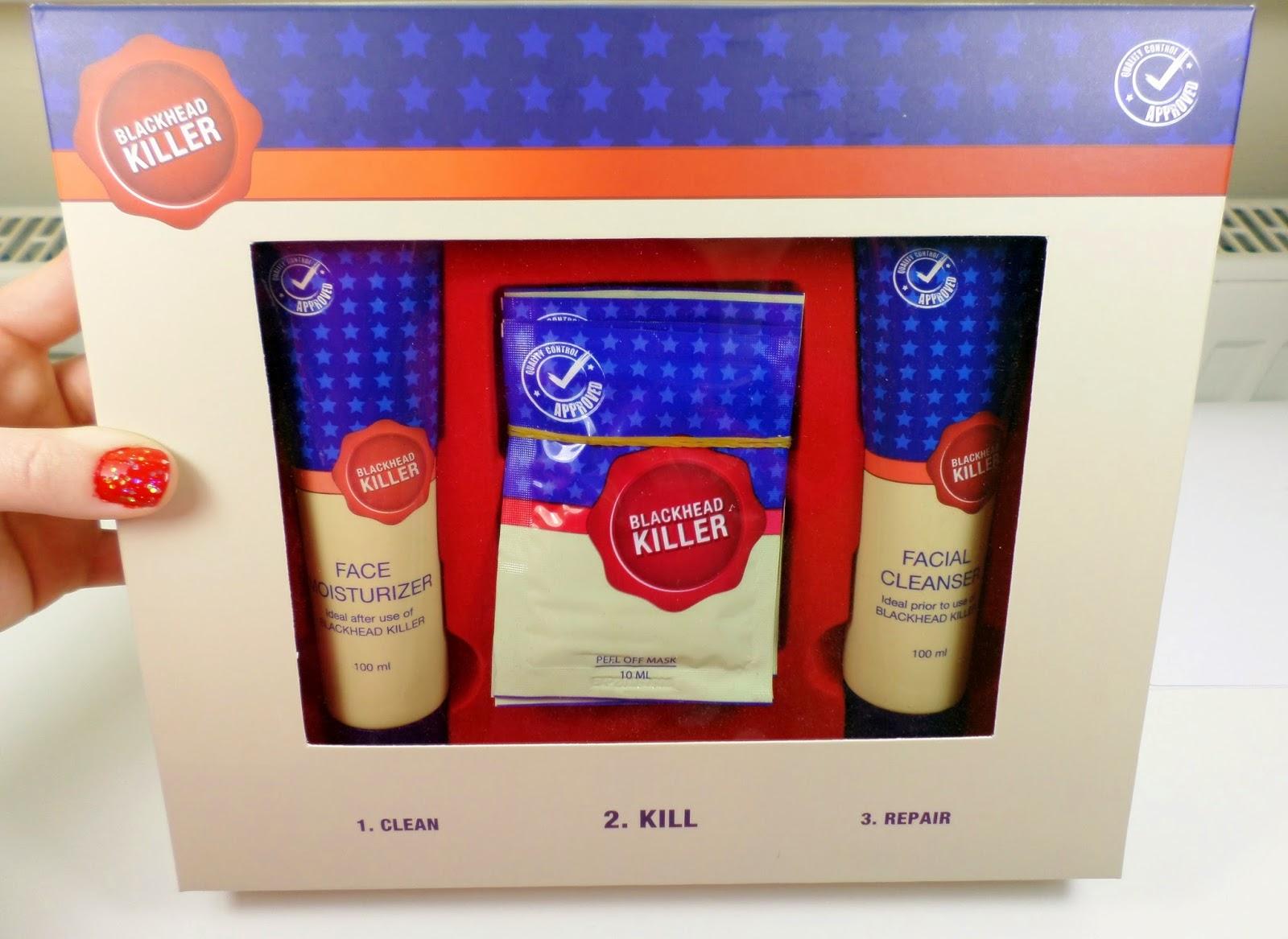 Blackhead Killer Gift Set: Cleanser, Face Masks & Moisturiser