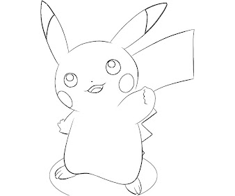 #13 Pikachu Coloring Page