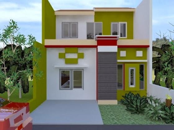 cat warna eksterior rumah minimalis