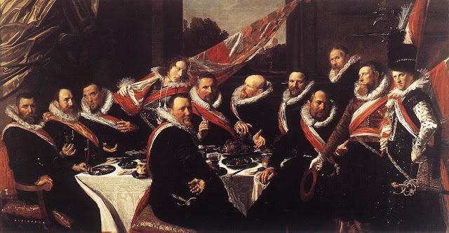 Frans Hals, Banquet,portrait painting