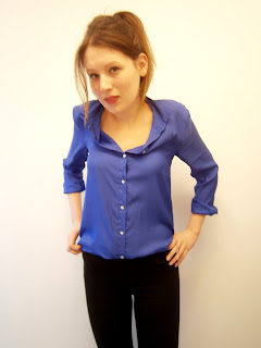 A small photo of me wearing H&M neon blue