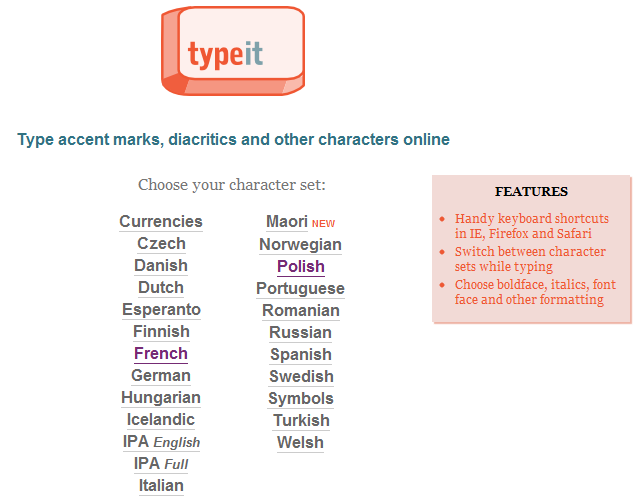 Tech Coach Typeit Type Accent Marks Diacritics And Other