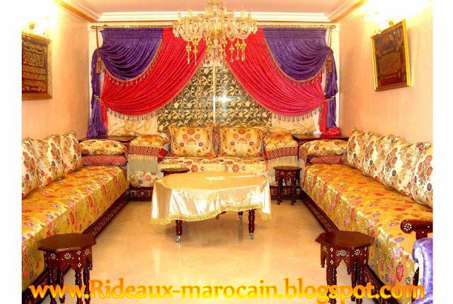 Rideaux et salons marocain