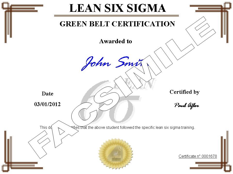 green belt lean six sigma pdf