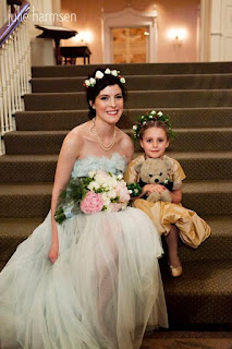 Darcie, her flower girl and BBear - Posted by Patricia Stimac, Seattle Wedding Officiant