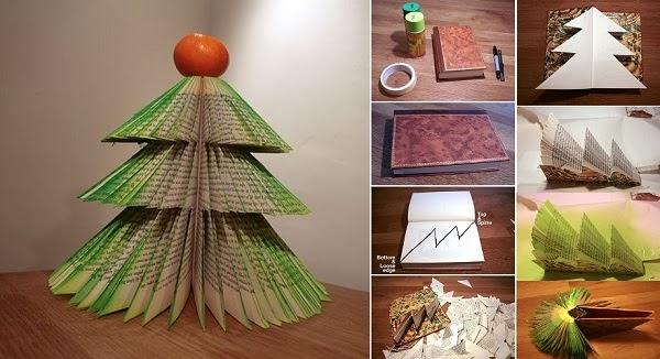 diy book christmas tree - Christmas Tree Book