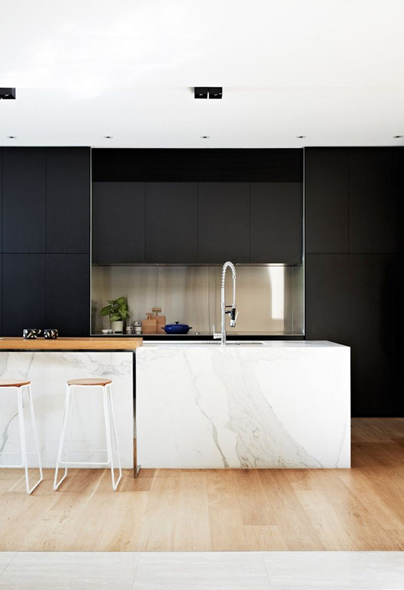 Minimalistic black kitchens | Image via Contemporist