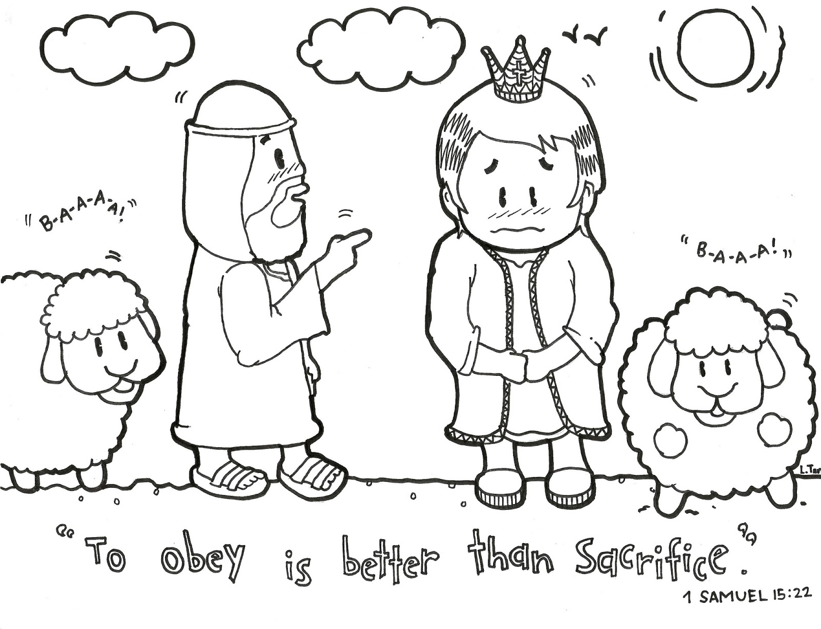To Obey Is Better Than Sacrifice Coloring Page
