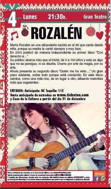 María Rozalén en Villarrobledo.