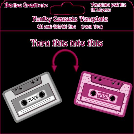 sensibility scrapping cassette tape template