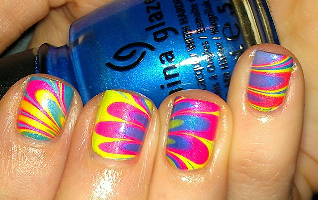 neon water marbe
