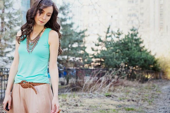 Silk-Maxi-Skirt-Jean-Jacket-Mint-Coral