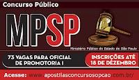 Apostila Concurso Ministério Público (SP) 2015 MP/SP Oficial de Promotoria MPSP
