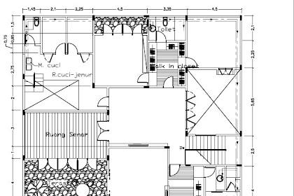 Jasa Gambar Murah Autocad 2D Denah Sanitary Lantai 2