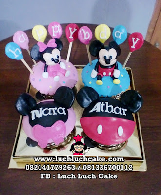 Cupcake Mickey Mouse Daerah Surabaya - Sidoarjo