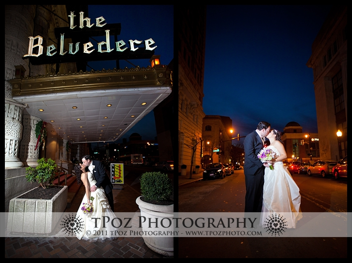 Belvedere Hotel Baltimore Bride Groom Wedding Photos