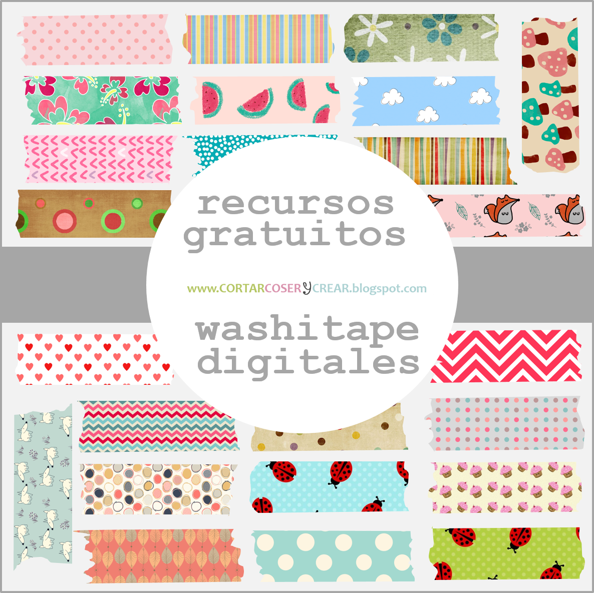 freebies digitales gratis washitape digital