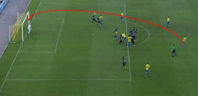 1-0 falta lanzada por Jonathan Viera
