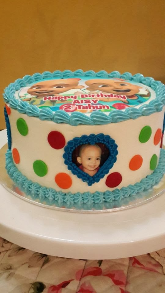 Cakes by Hanny: Upin Ipin theme cake for a 2 year old :)