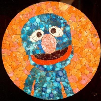 Kerajinan Mozaik Dari Kulit Telur