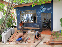 building a diveshop, making a dive center, koh lanta