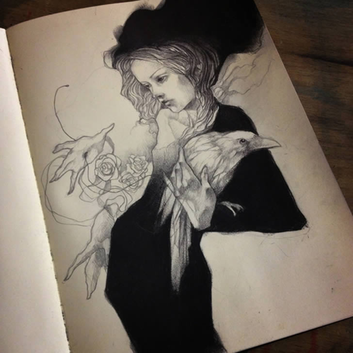Amazing sketchbook drawings for Amazing drawings of girls