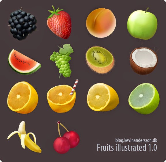Fruits Illustrated Icons