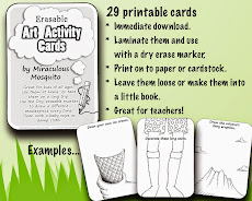 Art Activity Cards and Other Fun Printables