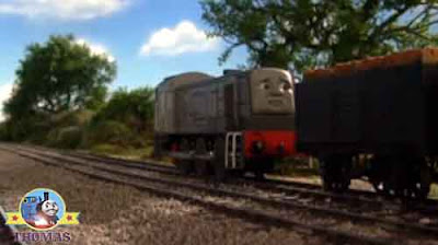 Thomas the train devious diesel Dennis skiving scheming idea he blasted his warning railway horn