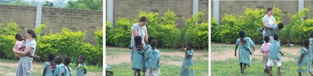 Gioco con i bambini della scuola della Missione di Atchanvé