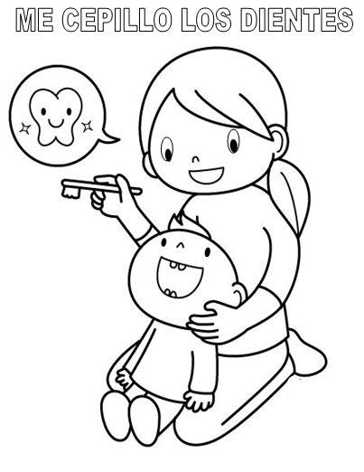 Dibujos de la salud bucal para colorear - Imagui