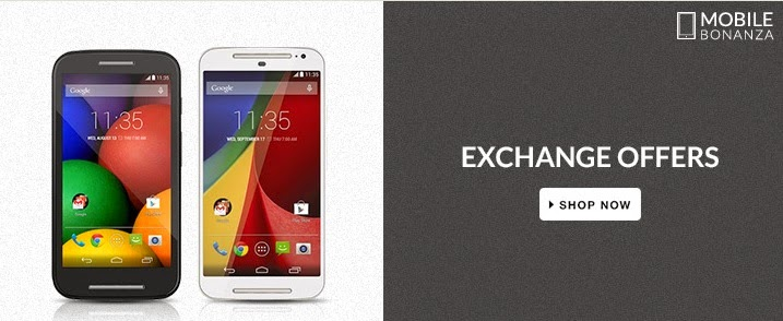 Exchange offer for Moto G, Moto E and Google Nexus 6 on Flipkart