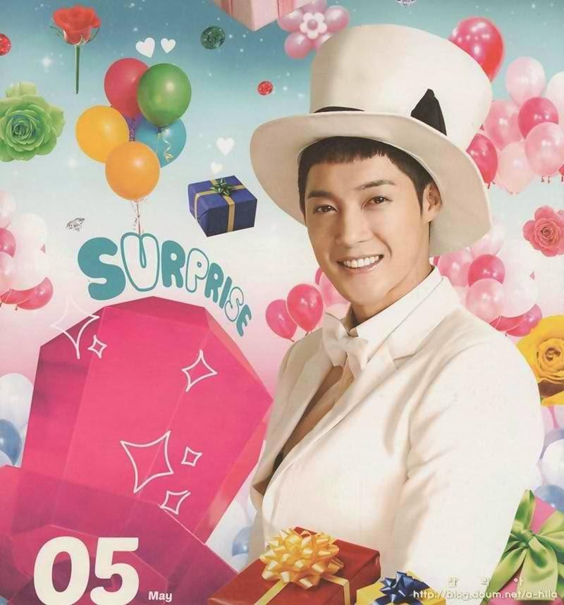 ss501 official   scan  kim hyun joong 2014 calendar