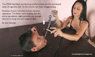 OWK smoking dominatrices starve slaves to death shock horror!