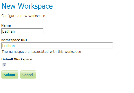 Create Workspace Geoserver