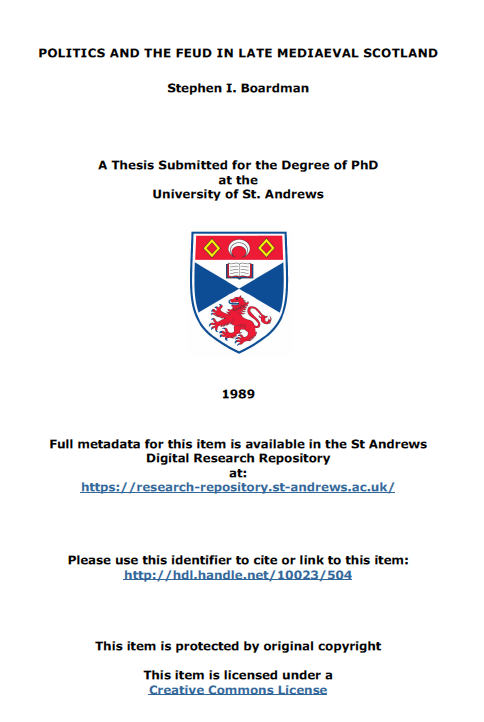 OpenAccess@StAndrews: St Andrews supports e-theses online service