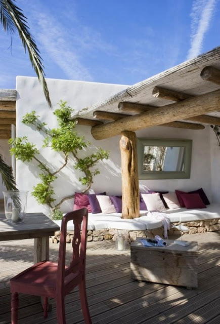 sofa de obra en terraza