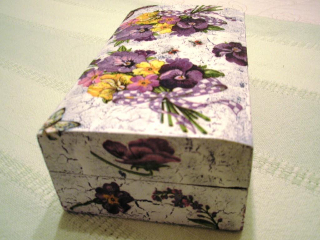 El cajon de manualidades caja de madera decorada - Cajas de madera manualidades ...