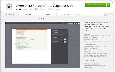 Beberapa Ekstensi Google Chrome Untuk Membuat Screenshot Webpage