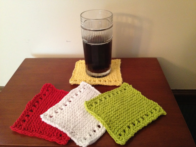 Dorable Knitted Coasters Free Patterns Elaboracin Ideas De