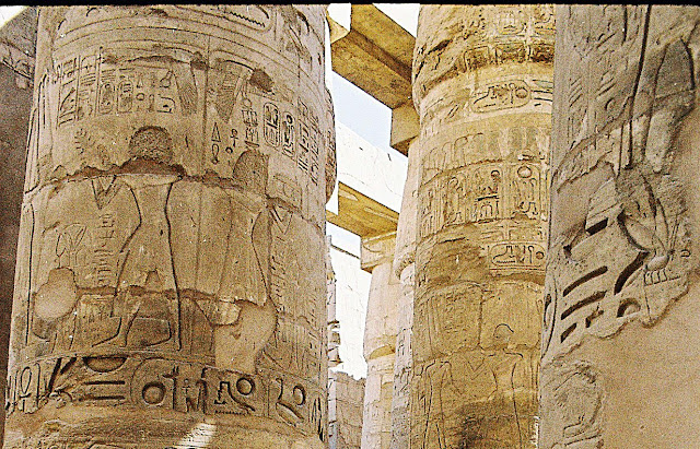 inscriptions on Karnak pillars