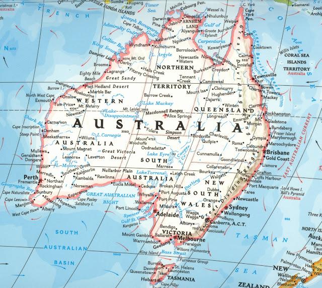 Avustralya haritası 2