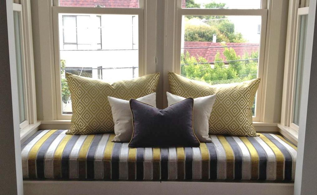 window seat pillows master bedroom window fun window seat with pillows by ida lauren designs cushion works