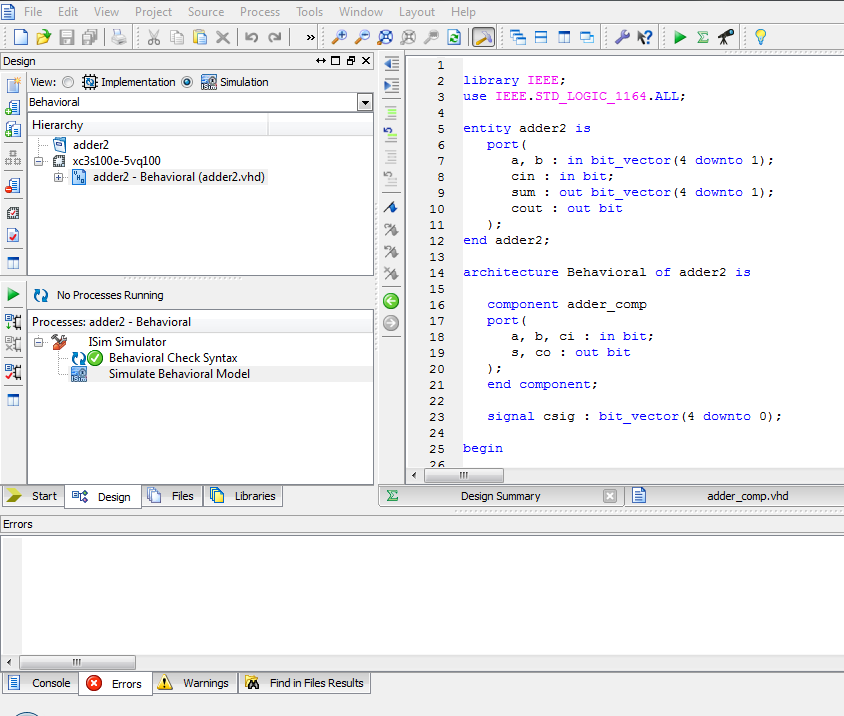 VHDL Using Foundation Express with VHDL