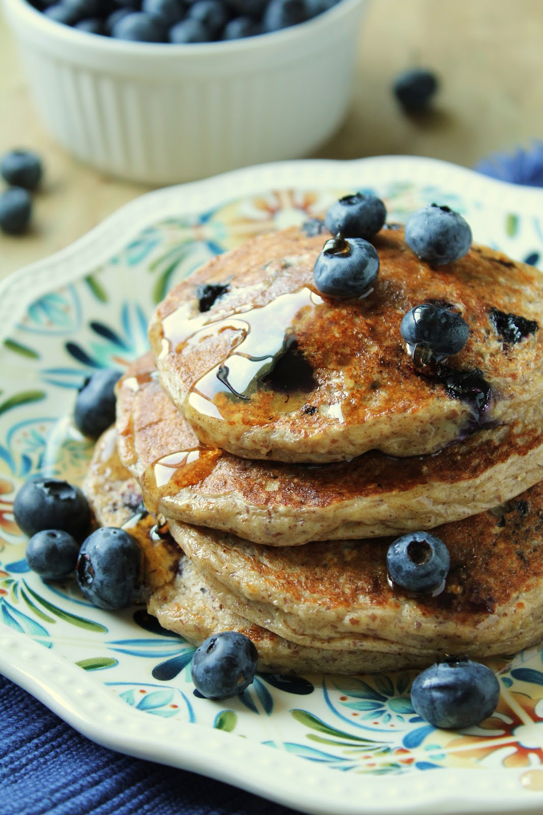 Charming Oatmeal Cottage Cheese Pancakes With Blueberries {Wheat Free, Gluten Free,  Low