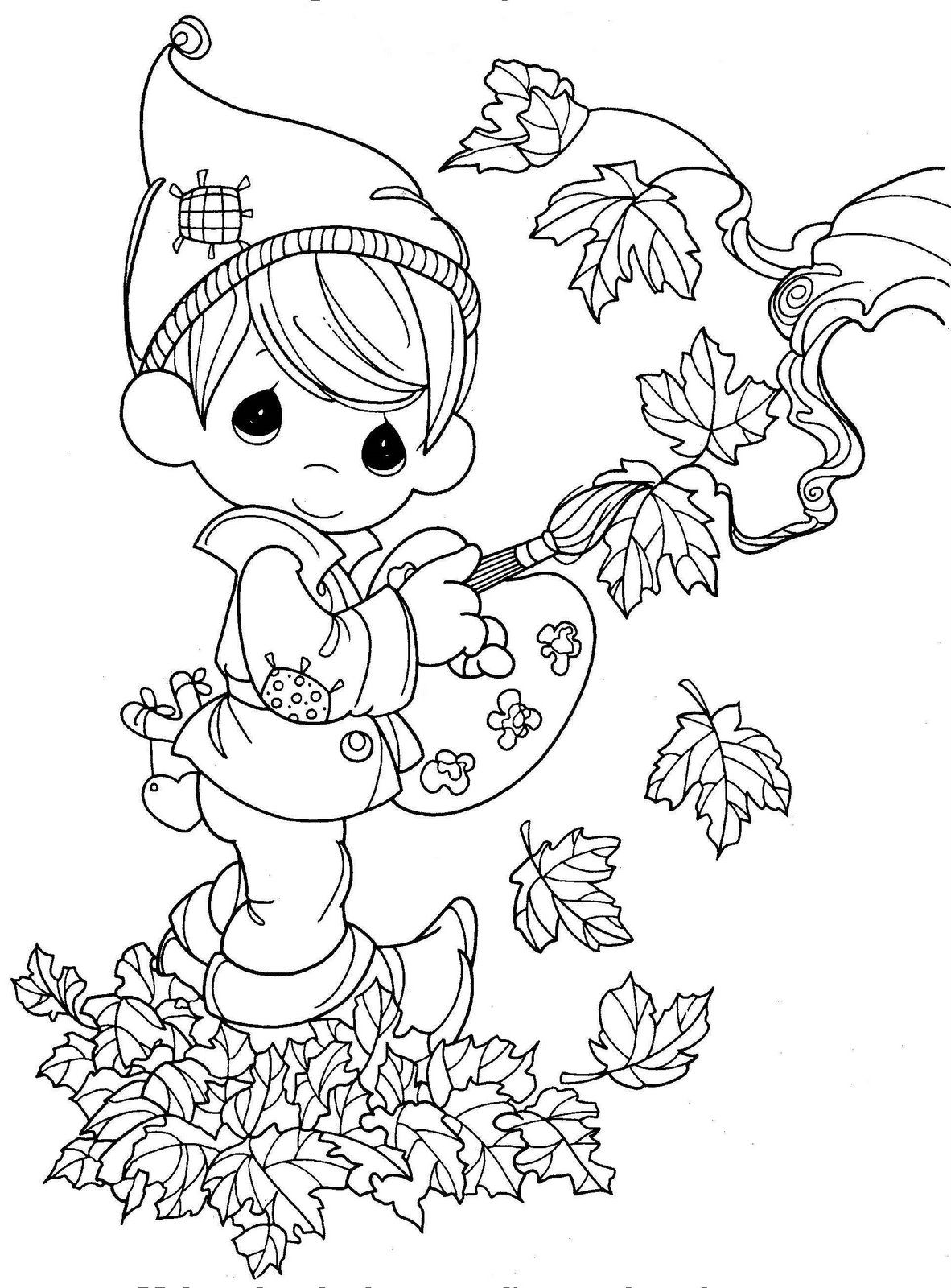 coloring pages fall themed - photo#47