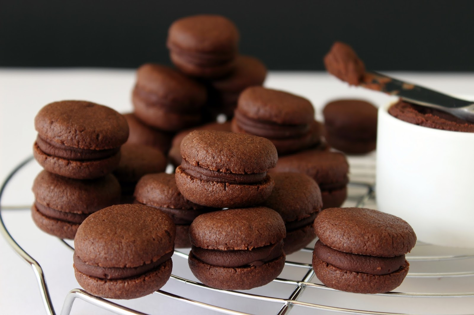 Gevulde chocoladebiscuitjes